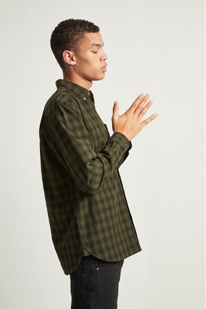 Overdyed Ombre Check Shirt