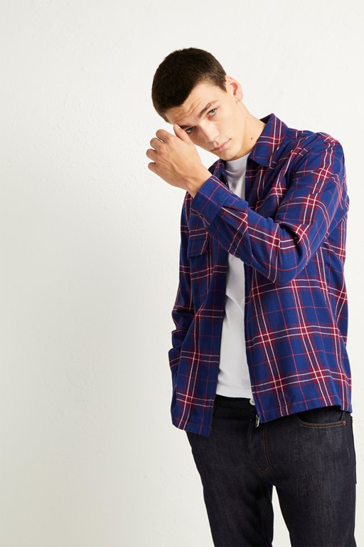 tabora flannel check shirt