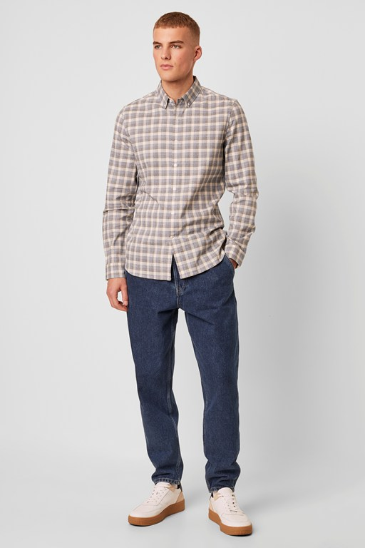 soft brindle check shirt