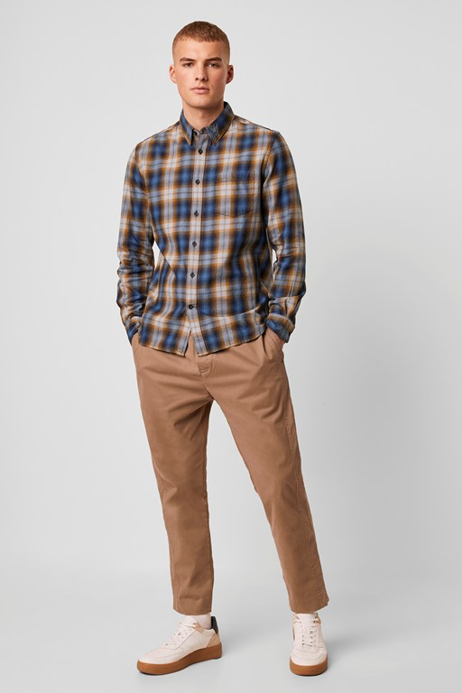 summer check flannel shirt