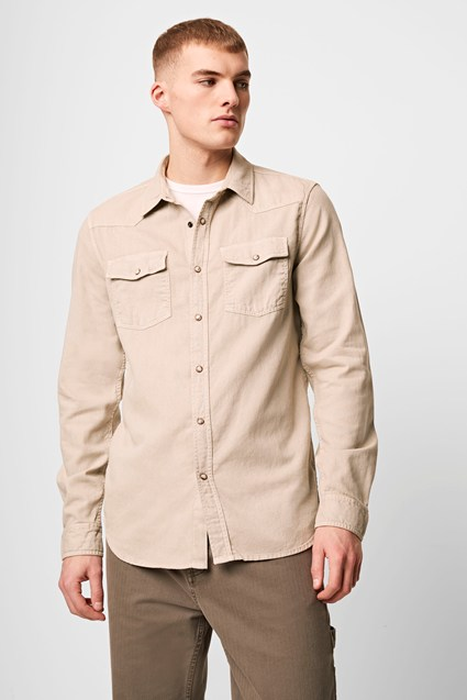 Garment Dyed Cotton Western Shirt