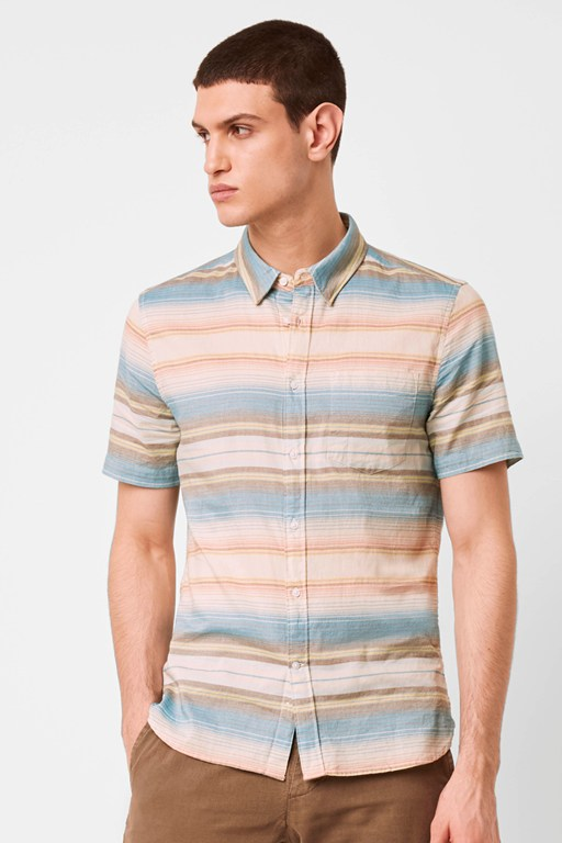 summer pastel stripe shirt