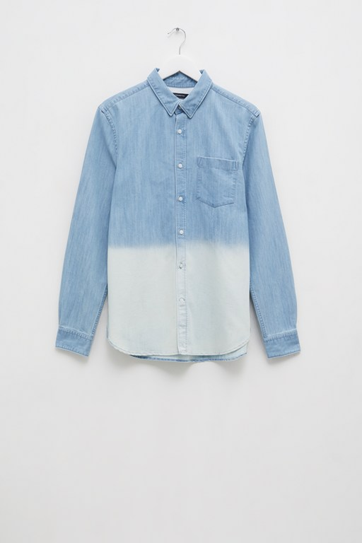 slub denim ombre shirt