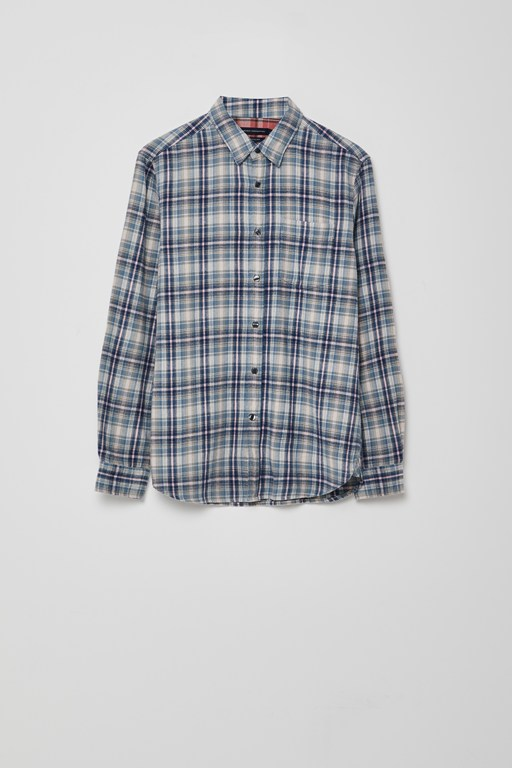 pastel bleach check shirt