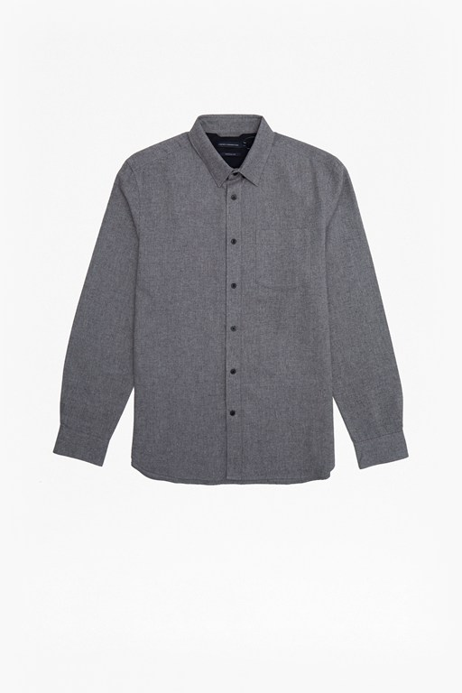 melange flannel shirt