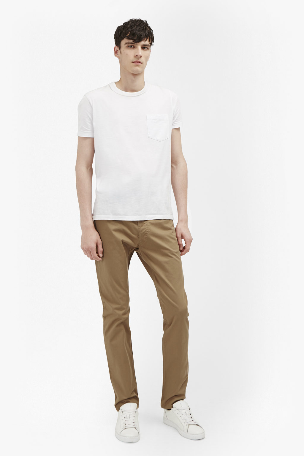 MENS TROUSER CHINO FRENCH CONNECTION IN CAMEL /& APPLE BUTTER COLOUR RRP £55.00