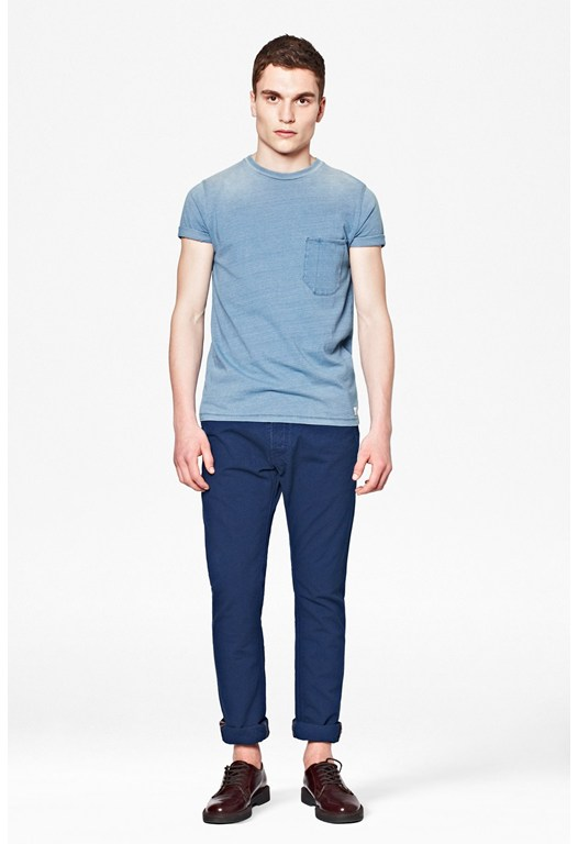 Indigo Canvas Slim Trousers