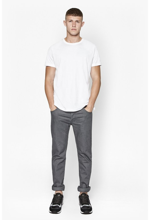 Classic Grey Stretch Slim Trousers