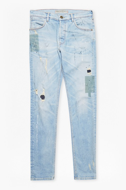 Complete the Look FCUK Paint and Patch Denim Jeans