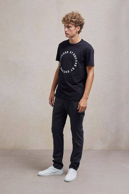 Stretch Flannel Slim Fit Trousers