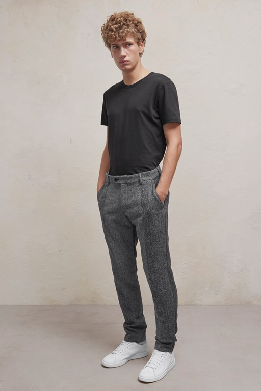 Complete the Look Patchwork Wool Trousers