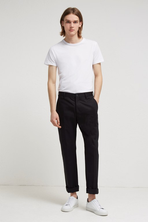 stretch cotton suit trousers