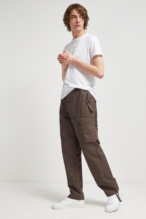 pigment peached cotton loose trousers