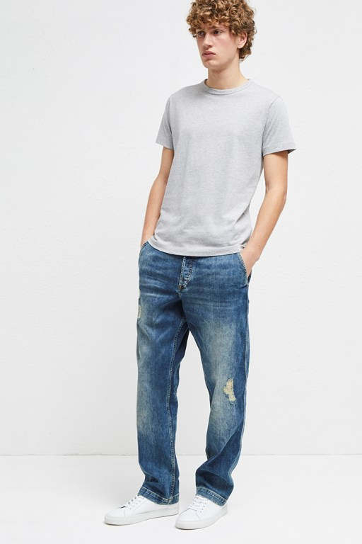 track denim loose fit jeans