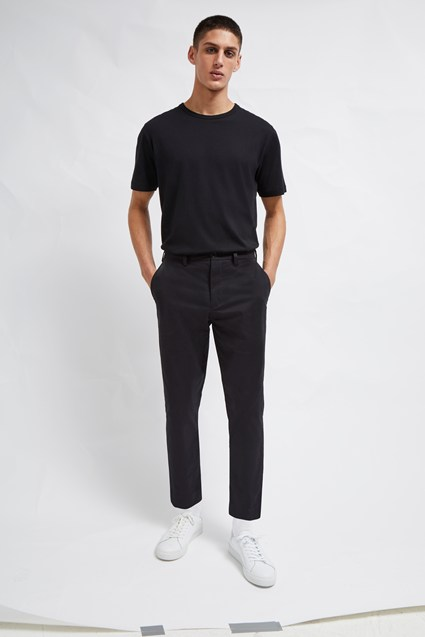 Machine Stretch Crop Tapered Trousers