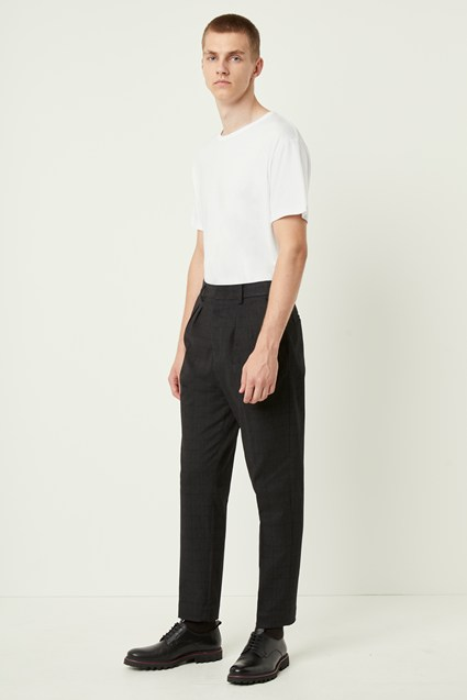 Tonal Check Utility Trousers