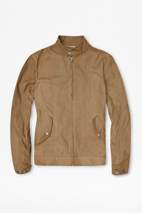 Oil Waxed Cotton Bomber Jacket
