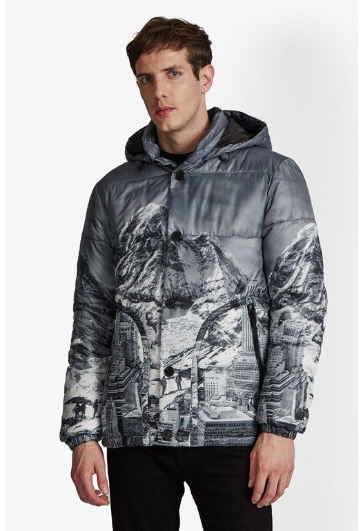Mountain Pass Printed Jaket