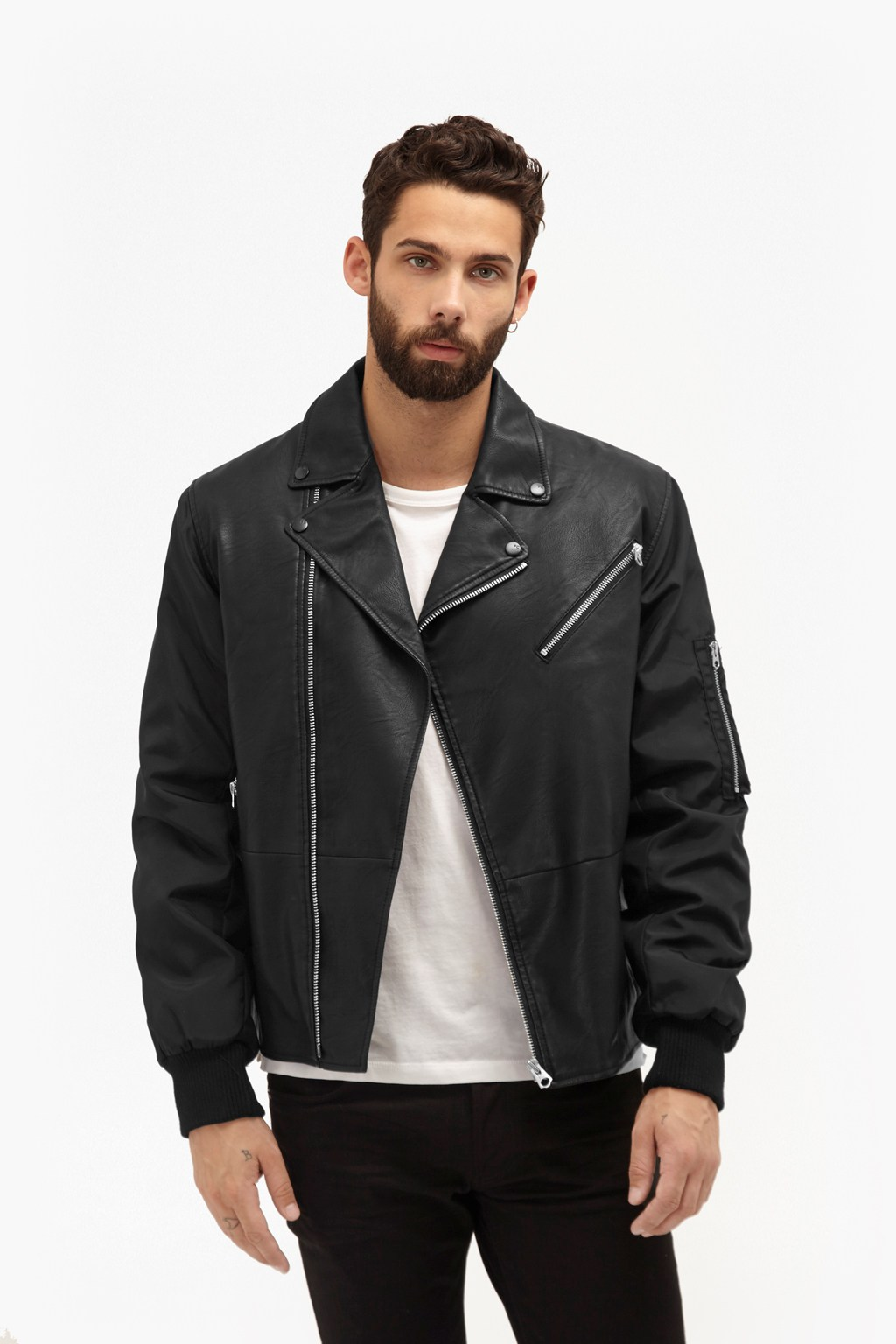 Free Wheeler Faux Leather Jacket | Mens Sale | French Connection Usa