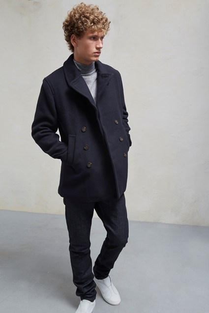 Melton Double Breast Peacoat