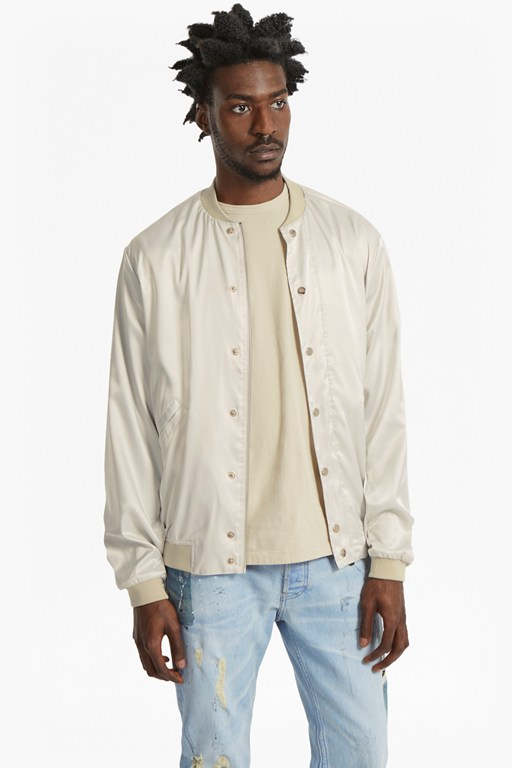 Complete the Look Souvenir Sateen Bomber Jacket