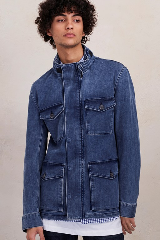 Complete the Look Track Stretch Denim Jacket