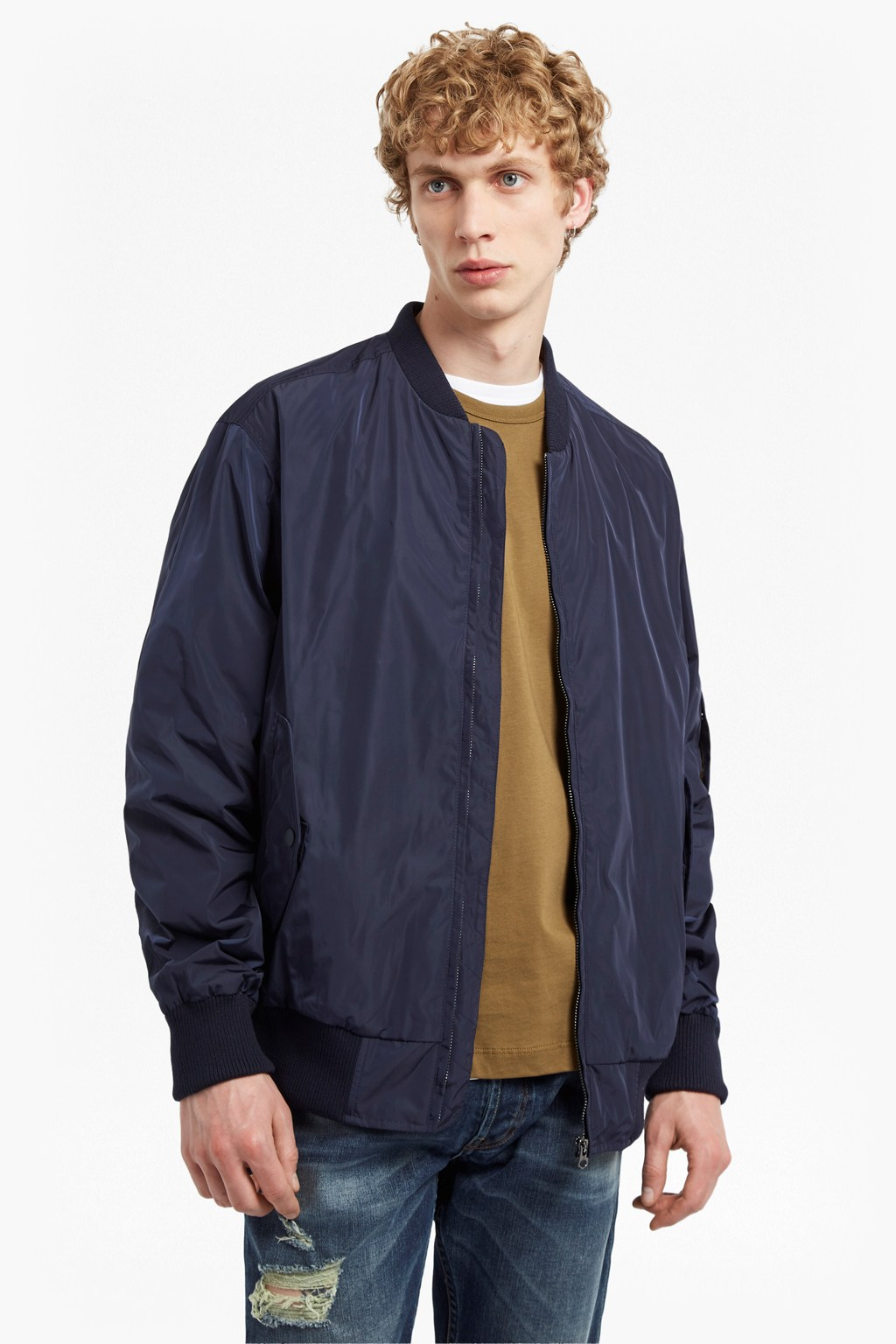 Boulevard Light Bomber Jacket | Mens Sale | French Connection Usa