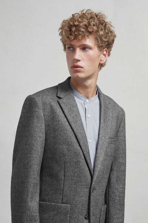 Complete the Look Double Face Wool Jersey Blazer