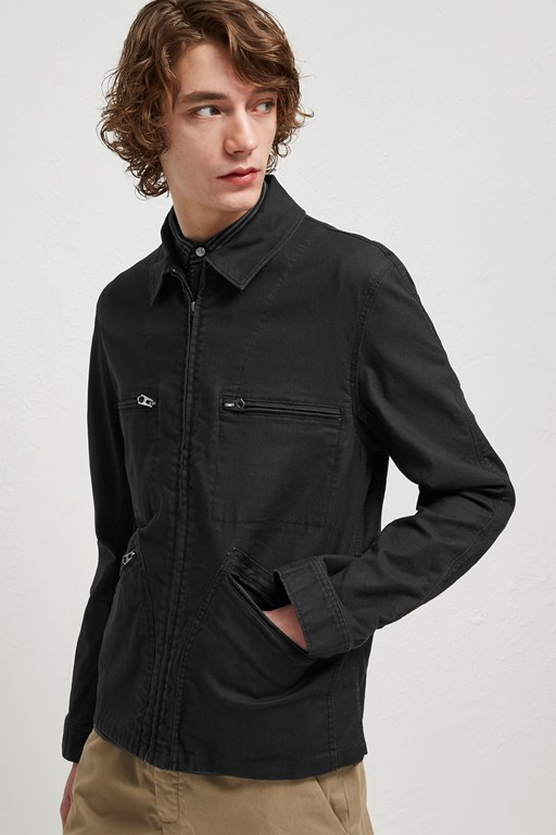 Complete the Look Slub Stretch Twill Field Jacket