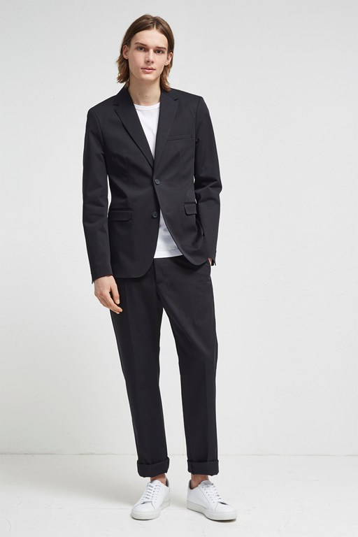 stretch cotton suit jacket