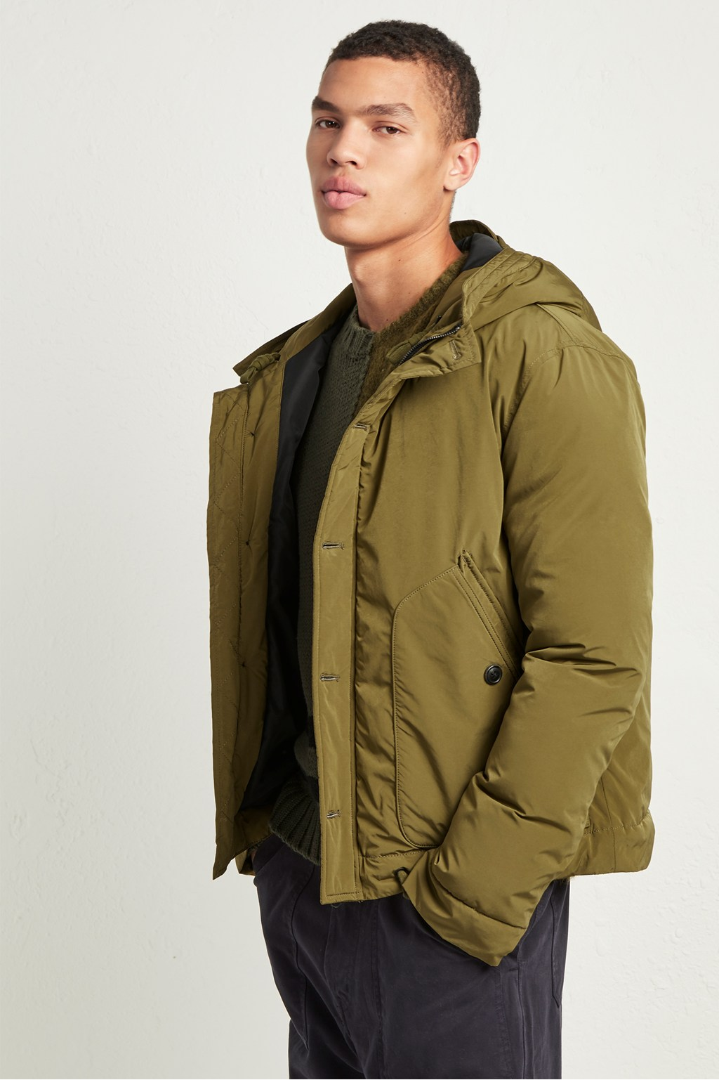 Soft Nylon Quilted Jacket Coats Jackets French Connection Usa