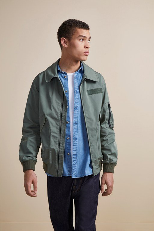 flight nylon bomber jacket