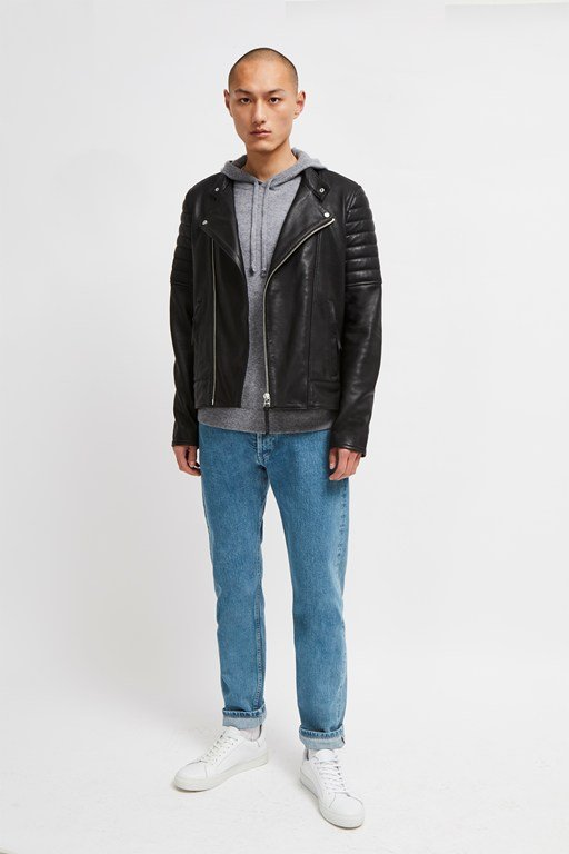 bleeker leather biker jacket