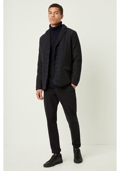 Contrast Check Wool Jacket