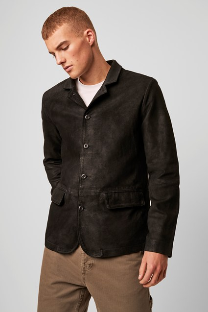 Suede Tailored Jacket