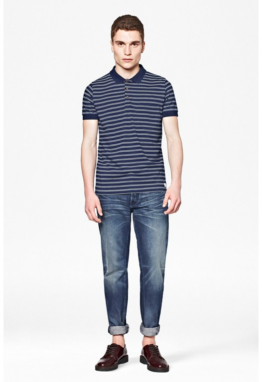 Denim Stripe Polo