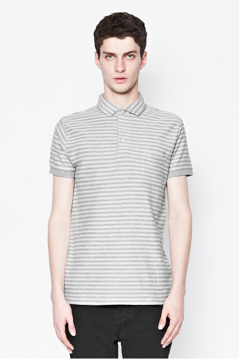 Reverse Loopstripe Polo Shirt