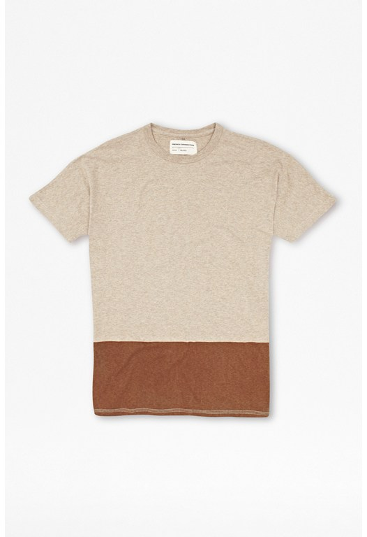 Melange Cut And Sew T-Shirt