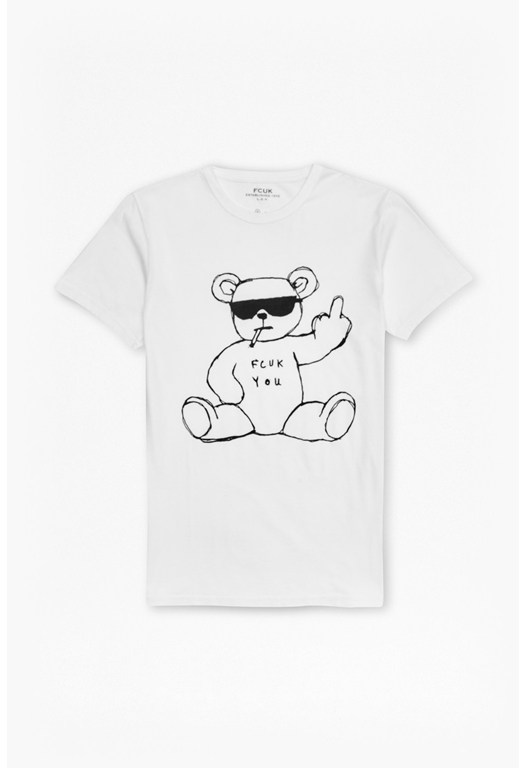 FCUK You Rude Bear T-shirt