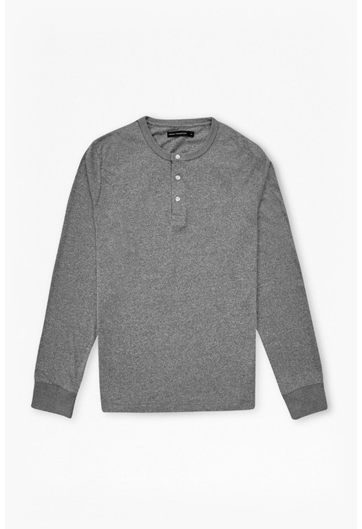 Melange Marlon Henley Long Sleeved Shirt
