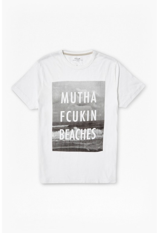 Mutha Fcukin Beaches Slogan T-Shirt