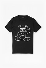 Looks Great With Rude Bear Graphic T-Shirt