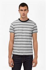 Looks Great With Coal Jacquard Stripe T-Shirt