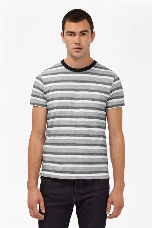 Complete the Look Coal Jacquard Stripe T-Shirt