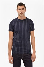 Looks Great With Skyray Stripe Contrast Detail T-Shirt