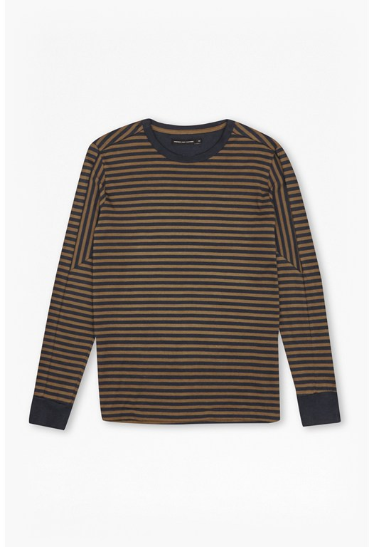 Black Tora Striped Long Sleeves Top