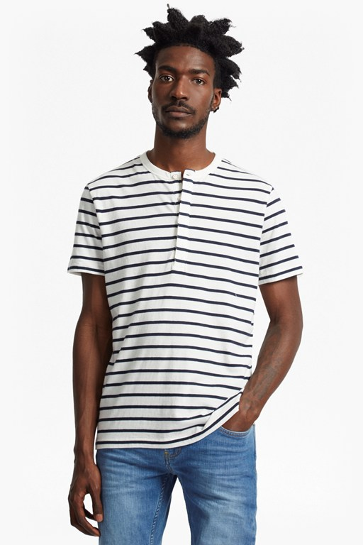 Complete the Look Jean Stripe Henley T-Shirt