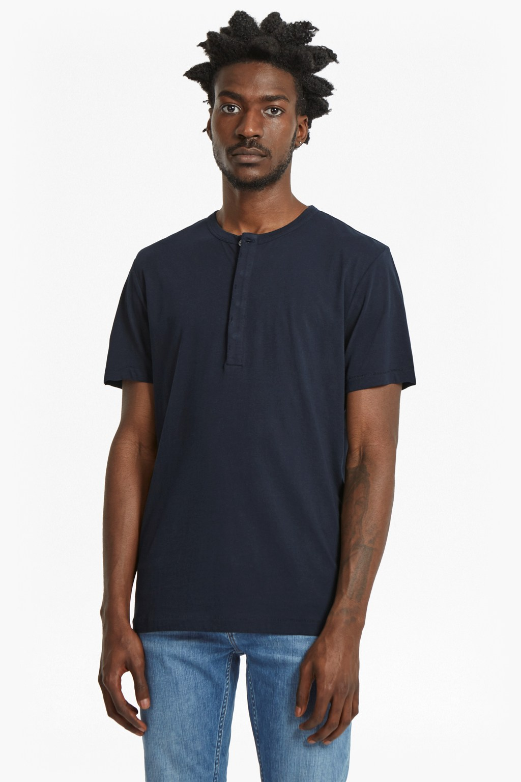plain henley short sleeve t shirt collections french
