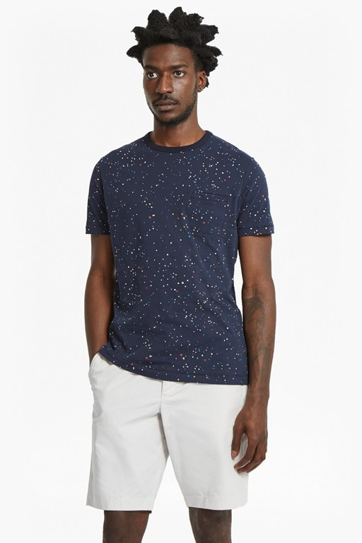 star splatter slim fit printed jersey t-shirt