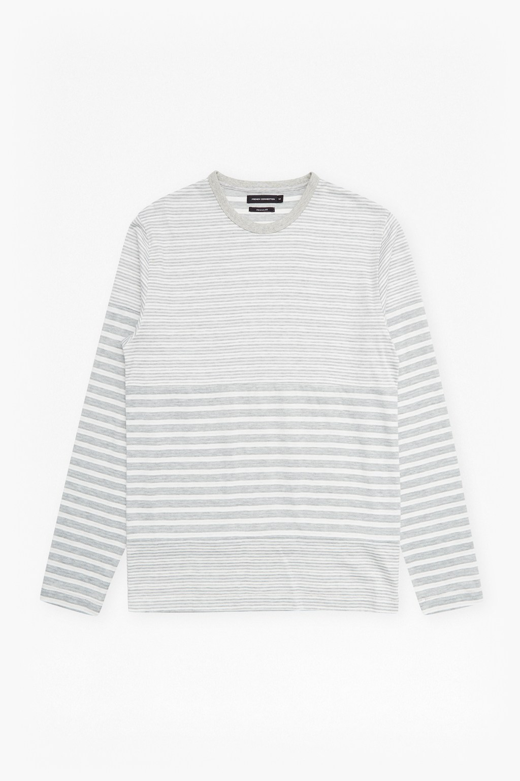 double face striped long sleeved top